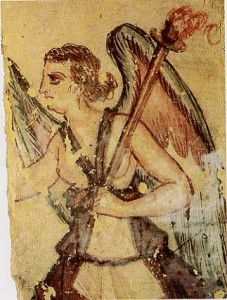 Vanth in a fresco in an Etruscan tomb, image: Wikipedia