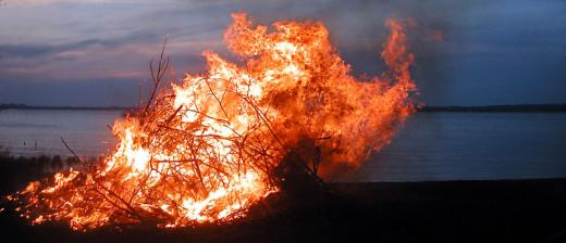 Walpurgis Night bonfire in Sweden.