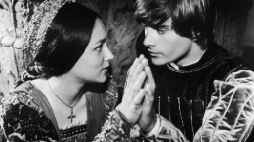 Olivia Hussey and Leonard Whiting in Franco Zeffirelli's Romeo and Juliet (1968). Getty Images.